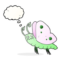 thought bubble cartoon funny butterfly