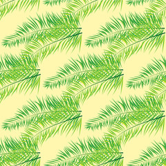 seamless repeat coconut leaves