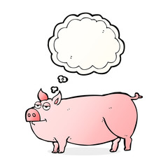thought bubble cartoon huge pig