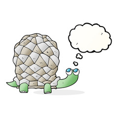 thought bubble cartoon tortoise