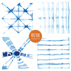 Abstract tie dyed watercolor backgrounds in vector.