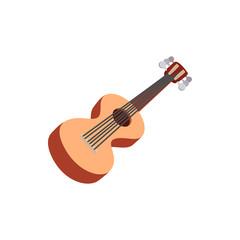 Classic guitar icon, cartoon style