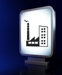 Manufacuring concept: Industry Building on billboard background