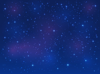 Stars on blue sky background
