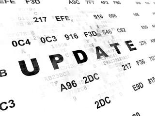 Web design concept: Update on Digital background