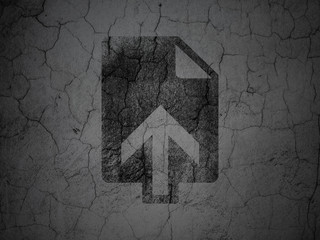 Web design concept: Upload on grunge wall background