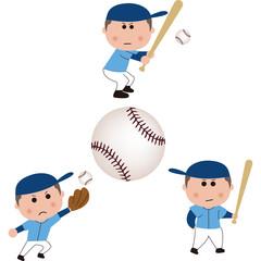 野球 白球のイラスト