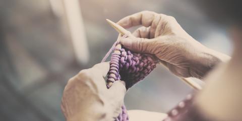 Knitting Knit Needle Yarn Needlework Craft Scarf Concept