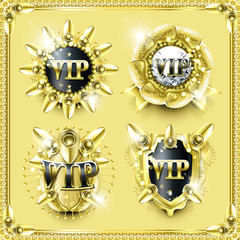 splendid golden VIP label collection
