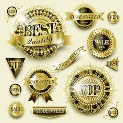 gorgeous golden label collection set