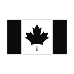 Flag of Canada icon, simple style