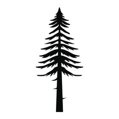 Canadian fir icon, simple style