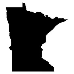 Minnesota black map on white background vector