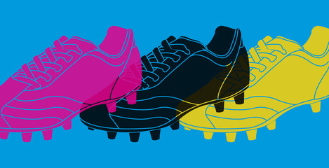 Pop art, chaussures de football