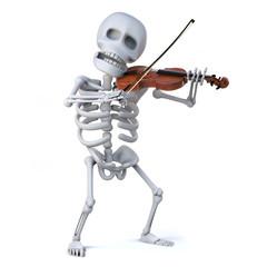 3d Skeleton violinist