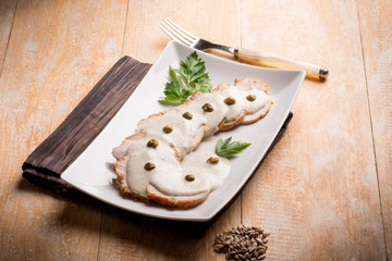 veal with tuna sauce and capers
