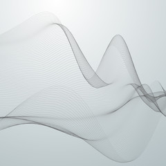 3D abstract digital wave