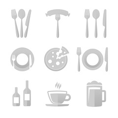 Icons for restaurant.