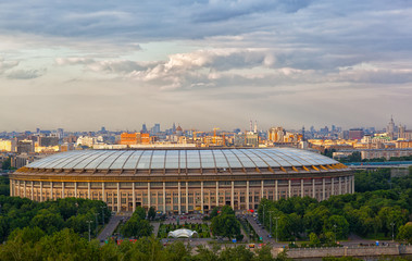 In de dag Stadion Stadium Luzniki at Moscow, Russia