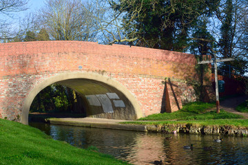 Bridge over the Grand Union Canal at Woughton-on-the-Green, Buck