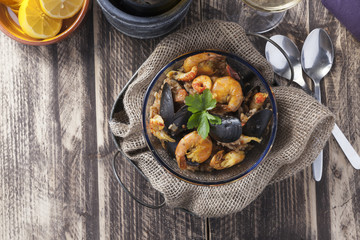 arroz de marisco portugese paella seafood rustic classic curry rice summer dish