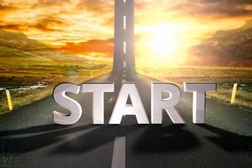 start road sky upwards sky sun highway up grow motivation