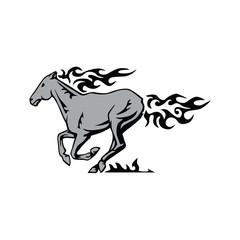 Elegant Horse Flame