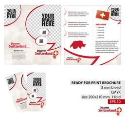 Brochure Design Template, Discover Switzerland.
