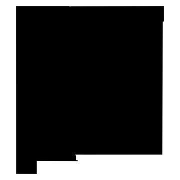 New Mexico black map on white background vector