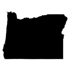 Oregon black map on white background vector