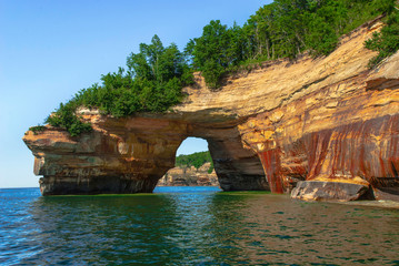 Pictured Rocks National Lakeshore. Michigan, USA. Wall mural