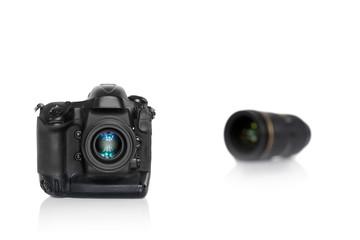 Kamera mit Objektiv unscharf