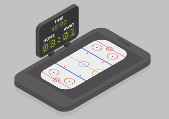 Icehockey Mobile Phone