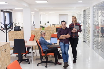 business people group portrait at modern office
