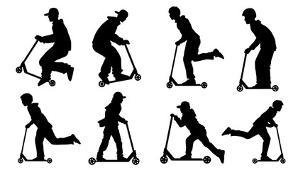 kick scooter silhouettes