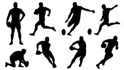 rugby silhouettes
