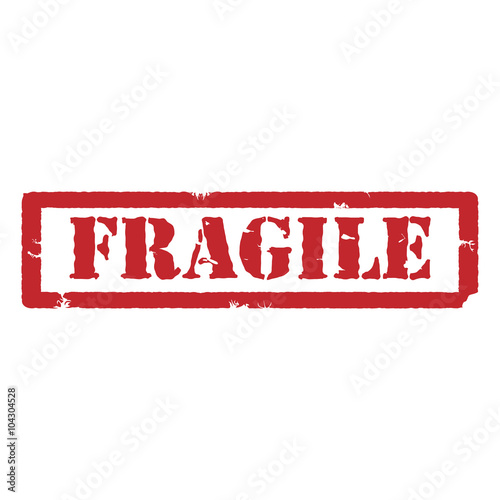 """""""Fragile red stamp"""" Stock image and royalty-free vector ..."""