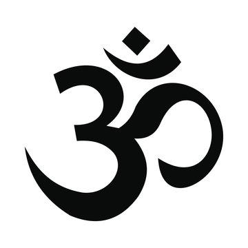 Hindu om symbol icon, simple style