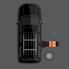 Car repair service concept