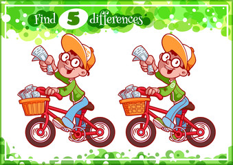 Educational game for preschool kids, find the differences.