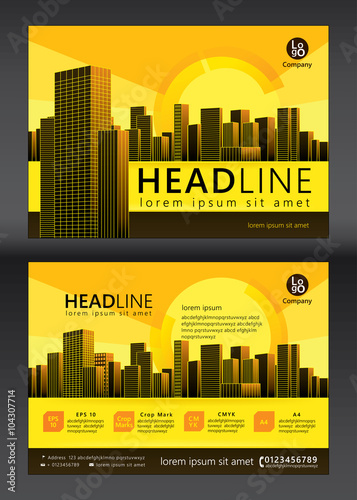 brochure template design concept of architecture design vector illustration - Settlement Brochure Template