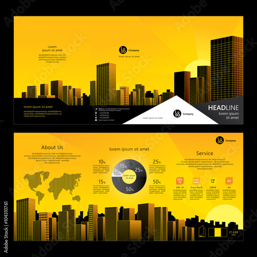 Brochure Template Design Company Profile Concept Of Architecture - Company profile brochure template