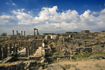 Syria. Bosra. General view of the ruins. This site is on UNESCO World Heritage List