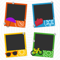 Seasons photo frames.