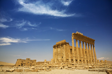 Syria. Palmyra (Tadmor). The sanctuary of Bel. This site is on UNESCO World Heritage List