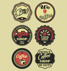 Coffee vintage retro labels