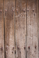 Detail of a wooden fence