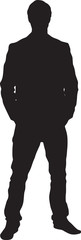 Man Figure Silhouette. Vector Illustration