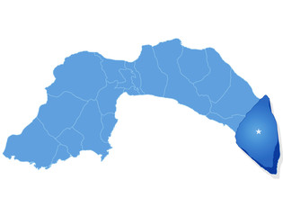 Map of Antalya - Gazipasa is pulled out