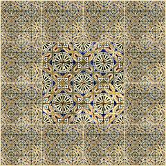Fotomurales - Background collage. Ceramic tile, museum Azulejo, Lisbon,